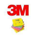 BLOCS DE NOTAS ADHESIVAS 3M POST-IT Z-NOTES, COLORES SURTIDOS NEÓN