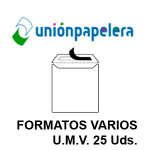 UP EN FORMATOS VARIOS, U.M.V. DE 25 UDS.