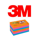 BLOCS DE NOTAS ADHESIVAS 3M POST-IT SUPER STICKY, COLOR BANGKOK