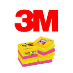 BLOCS DE NOTAS ADHESIVAS 3M POST-IT SUPER STICKY, COLOR RIO JANEIRO