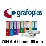 GRAFOPLAS GRAFCOLOR EN FORMATO DIN A-4, LOMO 55 MM.