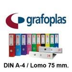 GRAFOPLAS GRAFCOLOR EN FORMATO DIN A-4, LOMO 75 MM.