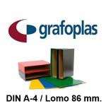 GRAFOPLAS GRAFCOLOR EN FORMATO DIN A-4, LOMO 86 MM.