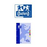 OXFORD ENCOLADOS EN FORMATO DIN A-4, 80 HJ. 90 GRS. 5x5, S/M, COLORES SURTIDOS