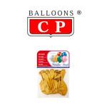 BALLOONS® CP REDONDOS, LÁTEX 100%, COLORES METALIZADOS