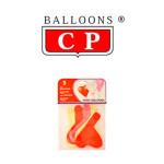 BALLOONS® CP EN FORMA DE CORAZÓN DE LÁTEX 100%, COLORES SURTIDOS PASTEL