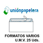 UP EN FORMATOS VARIOS, U.M.V. 25 UDS.