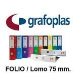GRAFOPLAS GRAFCOLOR EN FORMATO FOLIO, LOMO 75 MM.